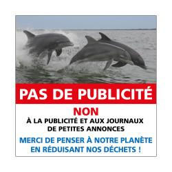 ADHESIF PAS DE PUBLICITE ANIMAUX (G1527)