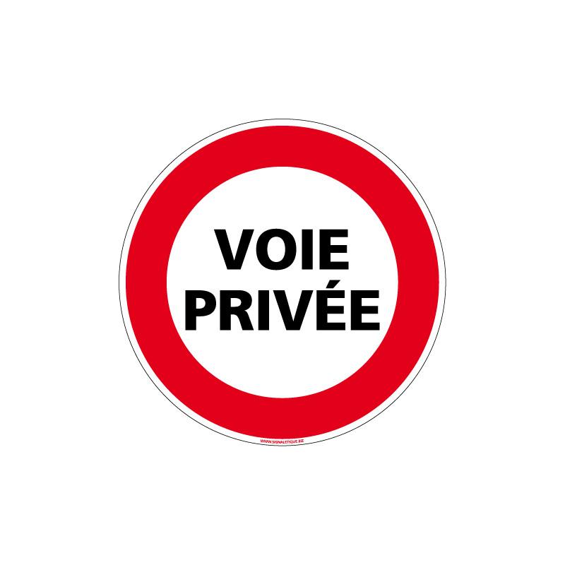 Panneau INTERDICTION DE CIRCULER VOIE PRIVEE (L0063)