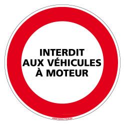 PANNEAU INTERDICTION DE CIRCULER, INTERDIT AUX VEHICULES A MOTEUR (L0146)