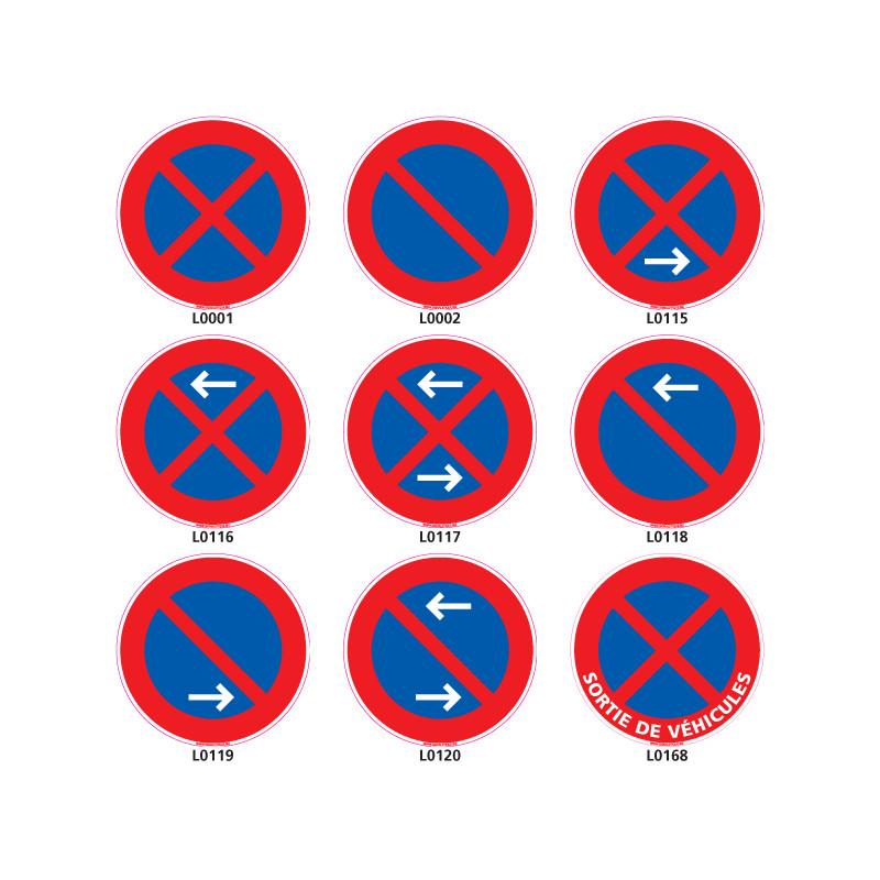 Panneau stationnement et arrêt interdit