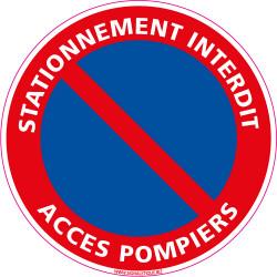 Panneau STATIONNEMENT INTERDIT, ACCES POMPIERS (L0015)