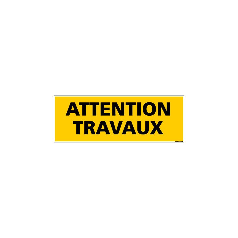 Panneau de Signalisation danger ATTENTION TRAVAUX (C0112)