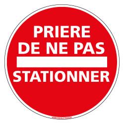 PANNEAU PRIERE DE NE PAS STATIONNER (L0038)