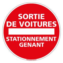 PANNEAU SORTIE DE VOITURES STATIONNEMENT GENANT (L0040)