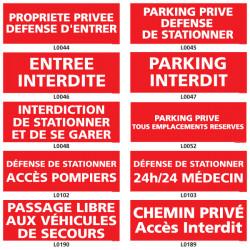 Panneaux de stationnement