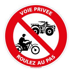 PANNEAU VOIE PRIVEE ROULEZ AU PAS (L0080)