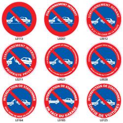 Panneau stationnement symbole fourrière