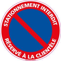 Panneau STATIONNEMENT RESERVE A LA CLIENTELE (L0123)