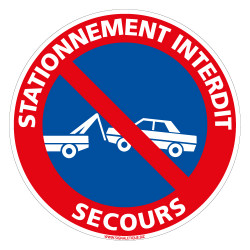 PANNEAU STATIONNEMENT INTERDIT SECOURS (L0138)
