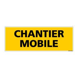 Panneau de Signalisation danger CHANTIER MOBILE (C0118)