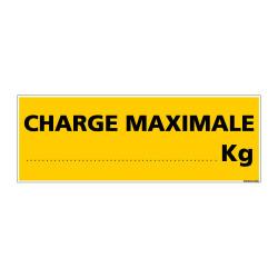 Panneau de Signalisation danger CHARGE MAXIMALE (C0119)