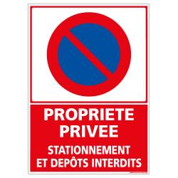 Panneau PROPRIETE PRIVEE STATIONNEMENT ET DEPOTS INTERDITS (L0194)