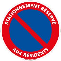 PANNEAU STATIONNEMENT RESERVE AUX RESIDENTS (L0208)