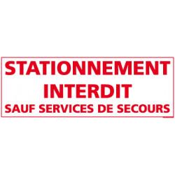 Panneau Stationnement Interdit sauf Services de Secours (L0250)