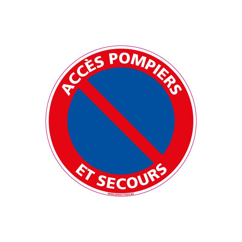 Panneau ACCES POMPIERS ET SECOURS (L0254)