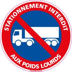 Panneau STATIONNEMENT INTERDIT AUX POIDS LOURDS (L0255)