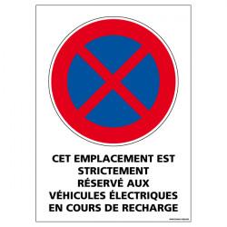 Adhésif de signalisation Stationnement réservé aux véhicules électrique (L0260)
