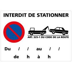 PANNEAU INTERDIT DE STATIONNER - FOURRIERE (L0263)