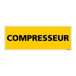 Panneau de Signalisation danger COMPRESSEUR (C0123)