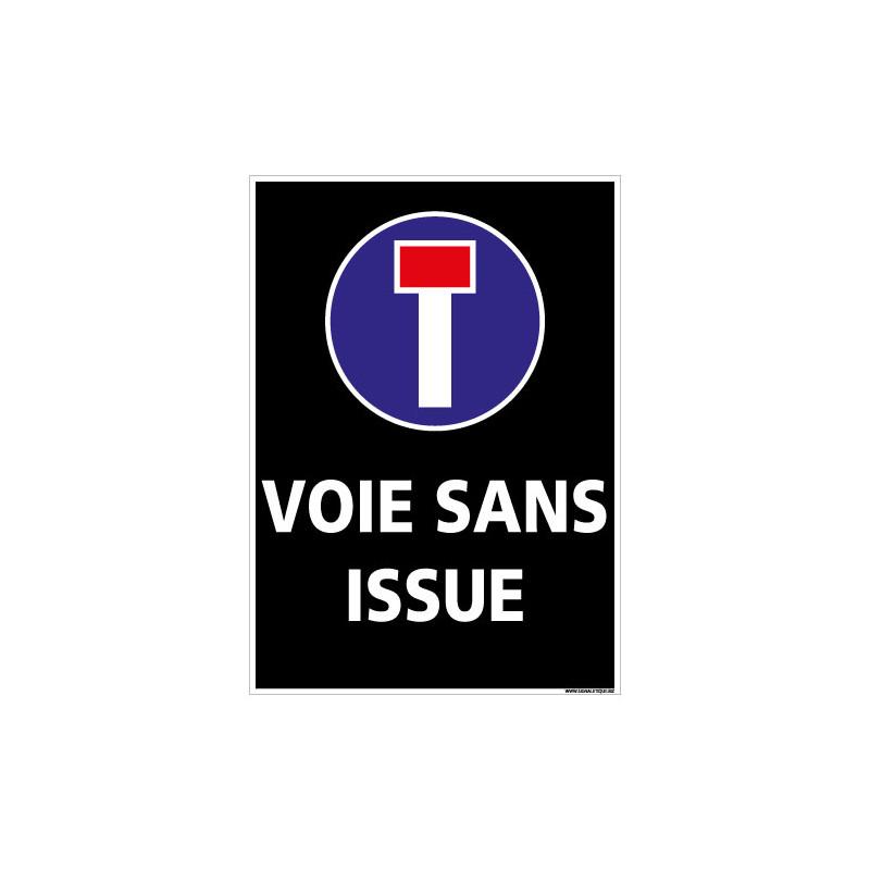 PANNEAU VOIE SANS ISSUE (L0286)