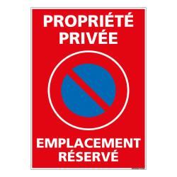 PANNEAU PROPRIETE PRIVEE EMPLACEMENT RESERVE (L0725)