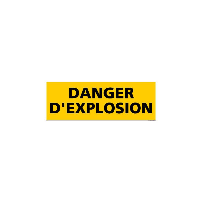 Panneau de Signalisation danger DANGER EXPLOSION (C0127)