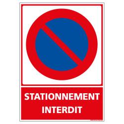 PANNEAU DE STATIONNEMENT INTERDIT (L1017)