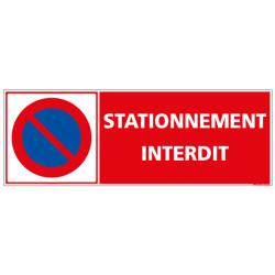 PANNEAU DE STATIONNEMENT INTERDIT HORIZONTAL (L1018)