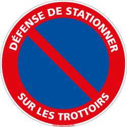 PANNEAU DEFENSE DE STATIONNER SUR LES TROTTOIRS (L1025)