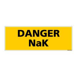 Panneau de Signalisation danger DANGER NaK (C0129)