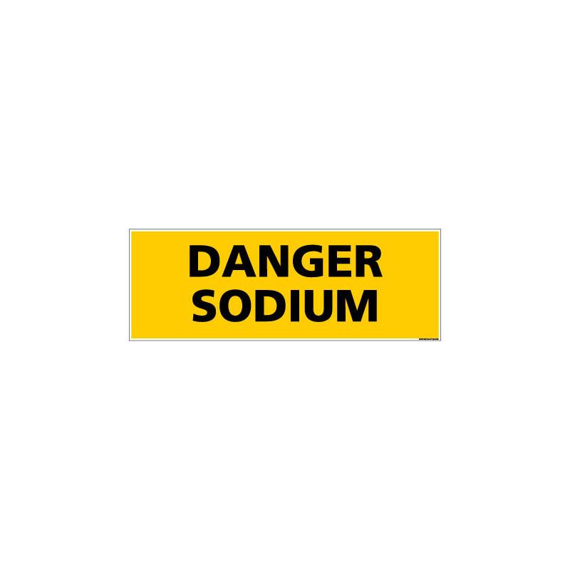 Panneau de Signalisation danger DANGER SODIUM (C0131)