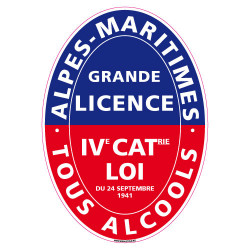 ADHESIF LICENCE 4 ALPES MARITIMES (G1243)