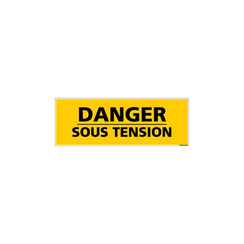 Panneau de Signalisation danger DANGER SOUS TENSION (C0133)