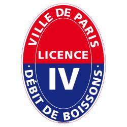 ADHESIF LICENCE 4 VILLE DE PARIS (G1248)