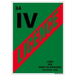 ADHESIF LICENCE 4 HERAULT (G1249)
