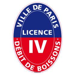 ADHESIF LICENCE 4 VILLE DE PARIS (G1250)