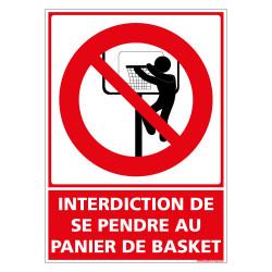 PANNEAU INTERDIT DE SE PENCHER AU PANIER DE BASKET (D1158)