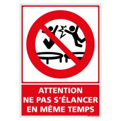 ATTENTION NE PAS S'ELANCER EN MME TEMPS (D1163)