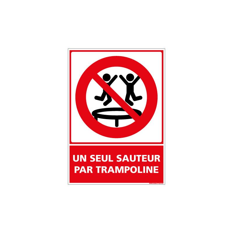 PANNEAU UN SEUL SAUTEUR PAR TRAMPOLINE (D1166)