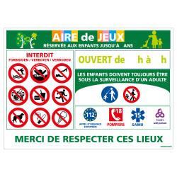PANNEAU AIRE DE JEUX (H0192)