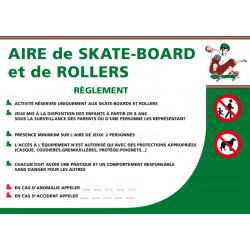 PANNEAU AIRE DE SKATE-BOARD ET DE ROLLERS (H0194)