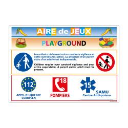 PANNEAU AIRE DE JEUX PLAYGROUND (H0202)