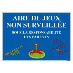 PANNEAU AIRE DE JEUX NON SURVEILLEE (H0203)