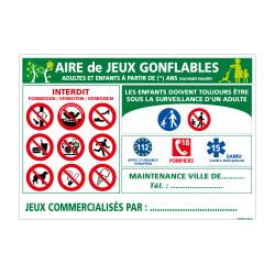 PANNEAU AIRE DE JEUX GONFLABLE (H0206)