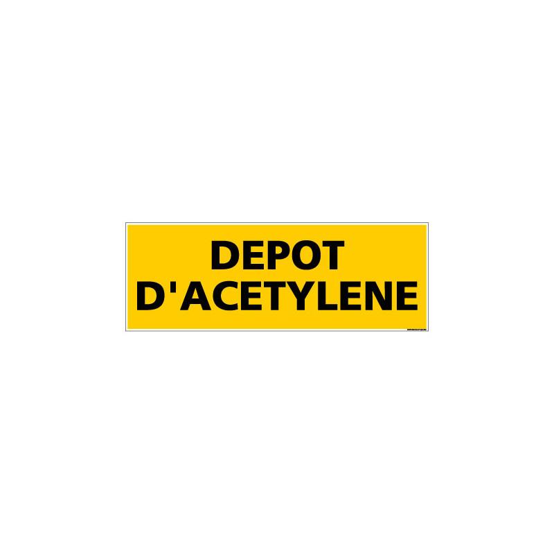 Panneau de Signalisation danger DEPOT D'ACETYLENE (C0140)