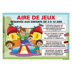 PANNEAU AIRE DE JEUX A PERSONNALISER (H0515-PERSO)
