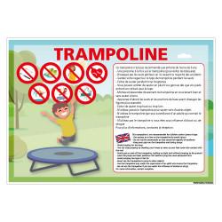 PANNEAU DE SIGNALISATION TRAMPOLINE (H0516)