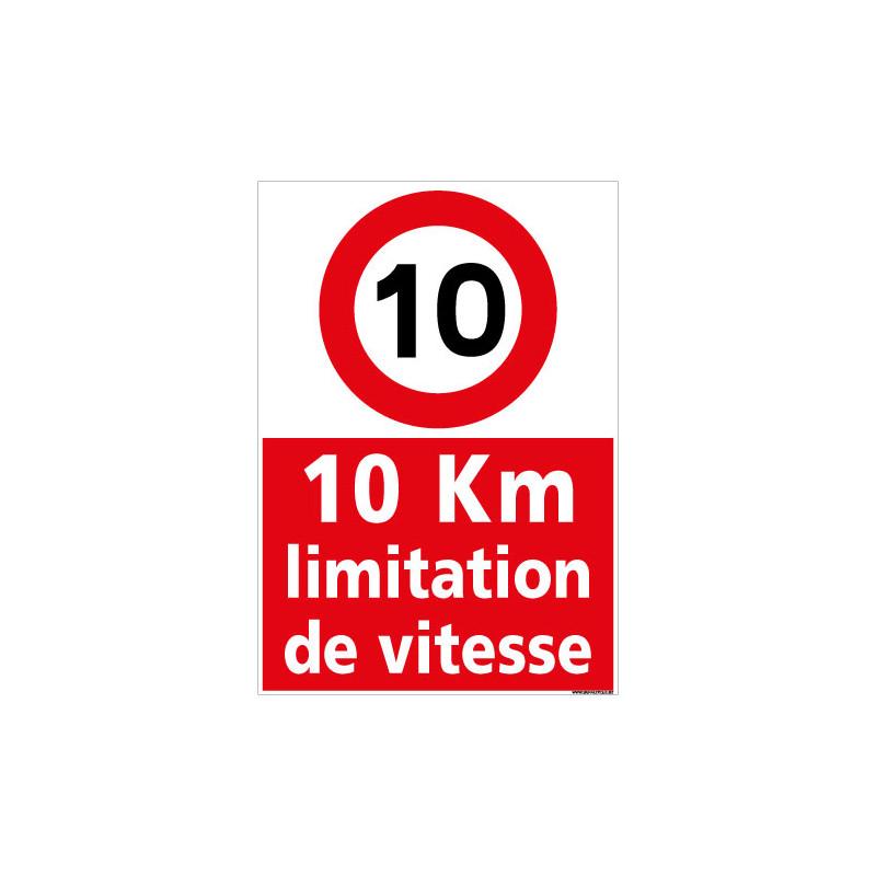 PANNEAU LIMITATION DE VITESSE A 10KM/H (D1125)
