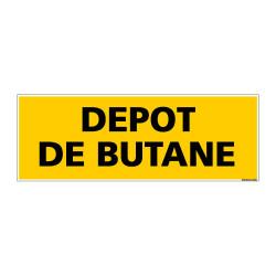Panneau de Signalisation danger DEPOT DE BUTANE (C0141)