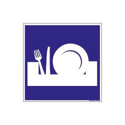 PANNEAU DE SIGNALISATION CAMPING LOCAL BAC VAISSELLE (H0213)